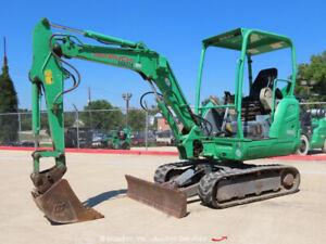 2014 Takeuchi TB230 Mini Excavator Tractor Aux Hyd Dozer Blade Q/C bidadoo