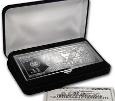 2013 ~ $100 DOLLAR BILL ~4~OZ.~ .999 PURE SILVER  BAR ~ GIFT BOX ~ COA ~ $139.88