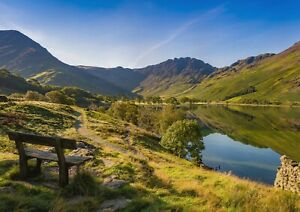 A1-Buttermere-Lake-Poster-Art-Print-60-x-90cm-180gsm-England-UK-Gift-12503