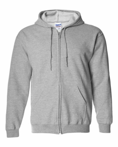 Gildan Heavy Blend Full Zip Hooded Sweatshirt Size S-5XL 17 colors Zipped Hoodie