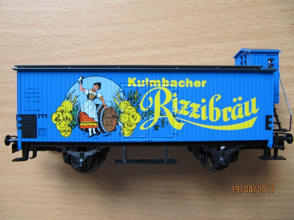 Märklin Bremserhauswagen Kulmbach Rizzibräu       Neuer Markt  8029df