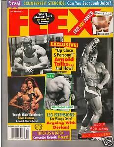 FLEX-Bodybuilding-Muscle-Magazine-Arnold-Schwarzenegger-Ericca-Kern-poster-11-95