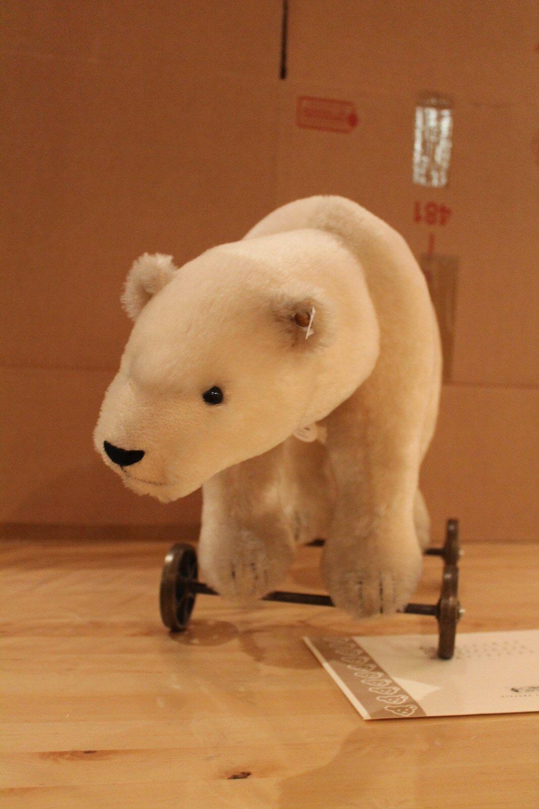 Steiff 400544    Polarbär auf Rädern 1910  8733c5