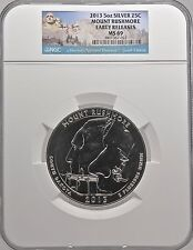 2013 5oz Silver 25C Mount Rushmore Early Releases MS 69 Beautiful!