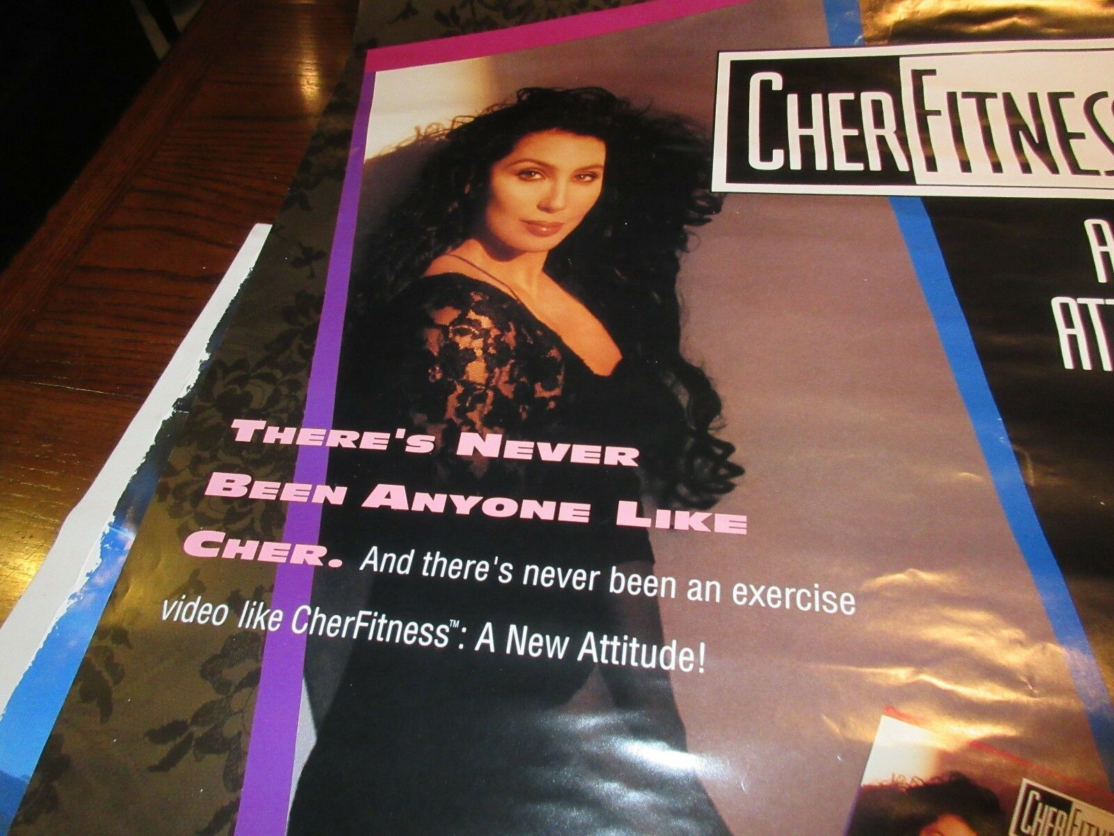 "Cher Fitness , POSTER , 26"" X 38"" . 1991"