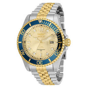 Invicta Men's Watch Pro Diver Quartz Champagne Dial Two Tone Bracelet 30617