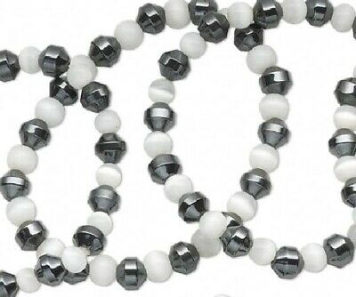 Wholesale 50//100//200pcs Mixed Fiber Optic Glass Cat/'s Eye Round Beads 6mm,8mm