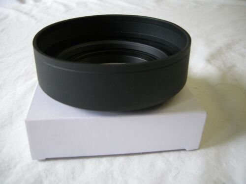 67mm 3 Stage Collapsible Rubber Lens Hood Mamiya Canon Nikon Sony Sigma Pentax