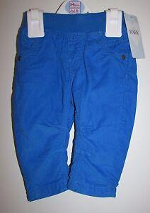 Baby-De-Nino-Cordel-confort-cintura-pantalones-3-6-meses-azul-brillante
