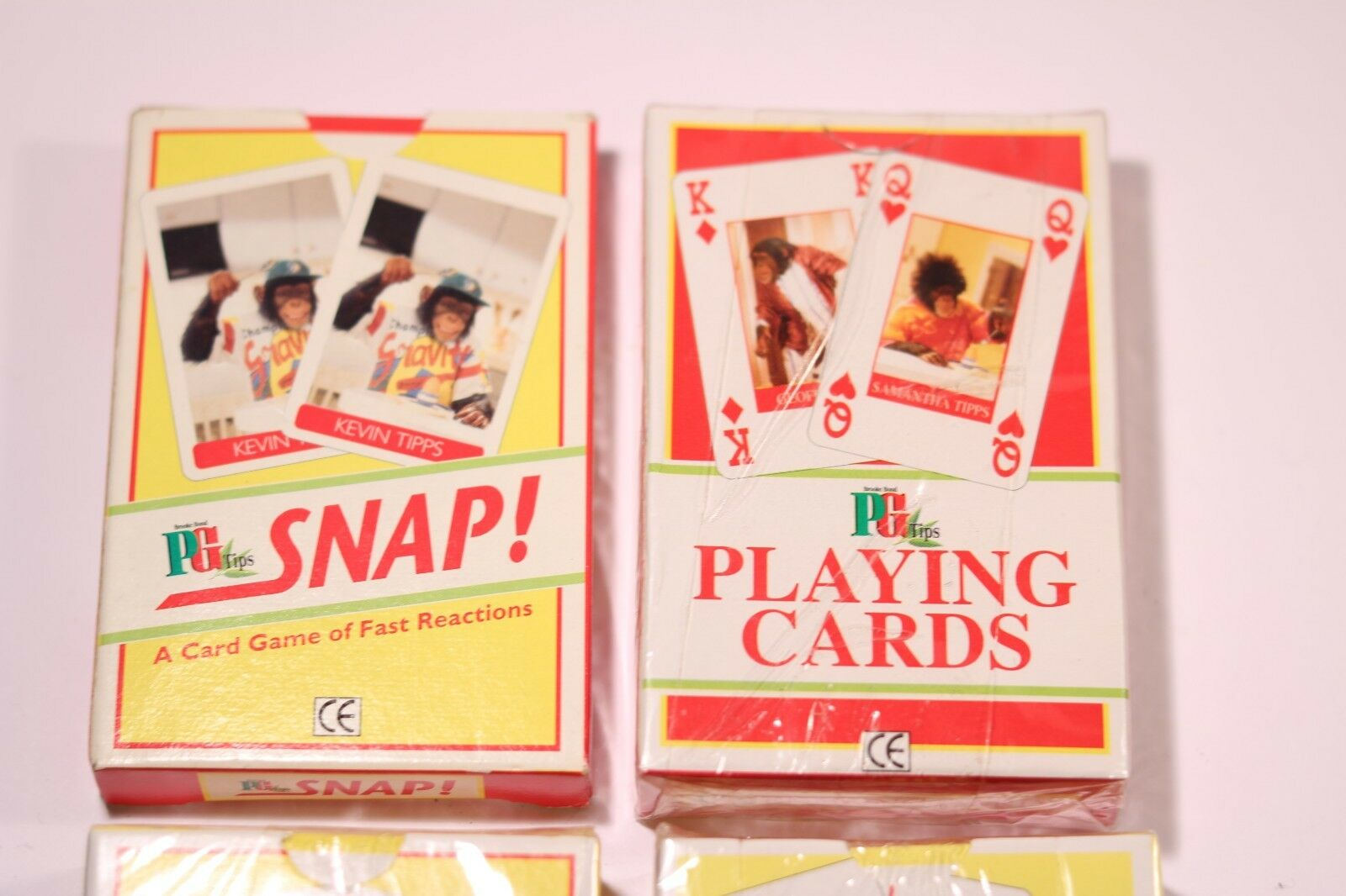 PG TIPS JOB LOT OF OF OF 4 PACK OF  CARDS TRICK SNAP GET OUT PLAYING CARDS cde832