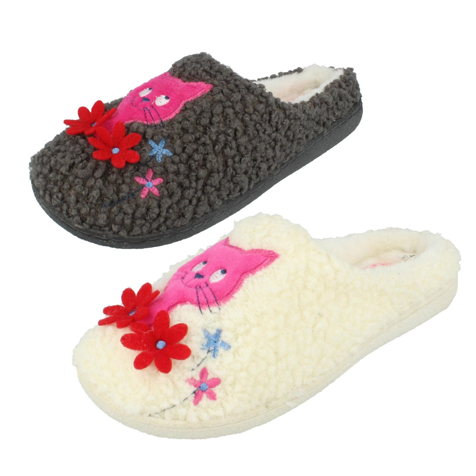 Ladies Candice Textile Mule Slipper By Joyti £12.99