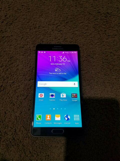 Samsung Galaxy Note 4 Sm N910p 32 Gb Charcoal Black Sprint Smartphone For Sale Online Ebay