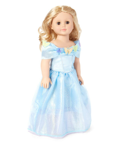 """Happily Ever After Blue Princess Dress Fits 18/"""" American Girl Dolls"""