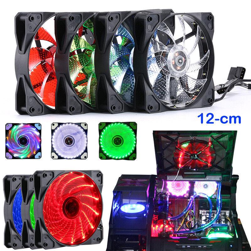 15 LED Light Quite  DC 12V 4Pin PC Computer Case Cooling Cool Fan Mod
