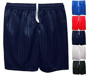 Unisex-Boys-Girls-Kids-Childrens-School-Sports-Shadow-Stripe-PE-Football-Shorts