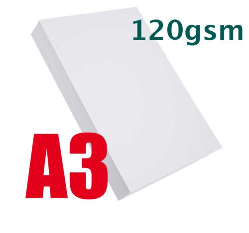 50 x A3 QUALITY HIGH WHITE PAPER 120gsm LASER CRAFTS PRINTING SCHOOLS INKJET
