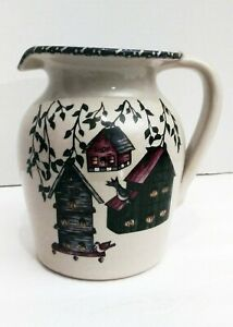 Hand-Made-Water-Milk-Pitcher-Home-Decor-Home-and-Garden-Art-Pottery-Pitcher