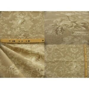 Coupon fabric toile de jouy ludivine natural background