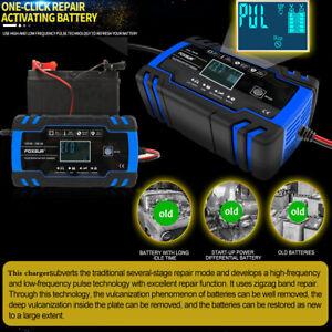 12-24V-8A-150Ah-Chargeur-de-Batterie-6A-12v-Voiture-Moto-Indicateur-EU-plug