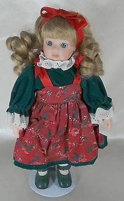 "Collectible 12""  Porcelain & Cloth Doll Un-marked"