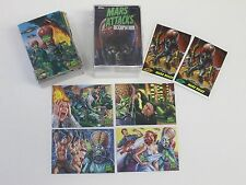 Mars Attacks occupation complete base set of 81 cards plus 2 promo cards in case