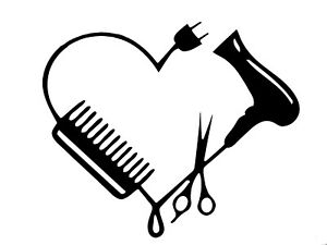 Blow Dryer Scissors Comb Heart Beautician Barber Beauty ...