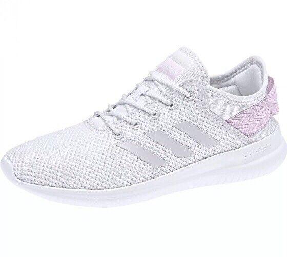 Adidas Cloudfoam CF QTFLEX W Women's Size 9.5 Running Shoes Pink/White DB0242