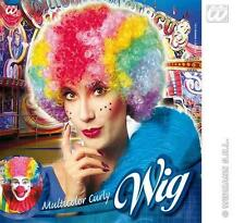 Rainbow Afro Peluca Varios Colores En Orgullo Gay Payaso Fancy Dress