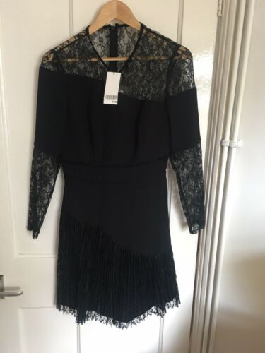 Rrp 19 Lace 195 12 Size £ Dress Bnwt Whistles Black wYT1Z1