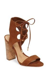 Schutz Damenschuhe Cruz Lace Up Cuff Sandale New 220 New Sandale Saddle Braun Größe 10 ... 4a48a2