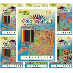 Colour By Numbers Picture Board Set Colouring Pencils Sharpener