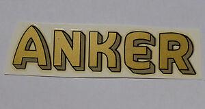 Automobilia Aufkleber Nett Anker Schriftzug Wasserabziehbild Abziehbild 89x23mm 13710a Gold-grau