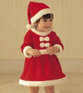 c16f76d80 Baby Girls Christmas Xmas Mrs Santa Costume First Dress Outfit Hat 6 ...