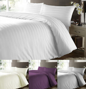 500-THREAD-COUNT-100-EGYPTIAN-COTTON-SATIN-STRIPE-DUVET-BEDDING-COVER-BED-SETS