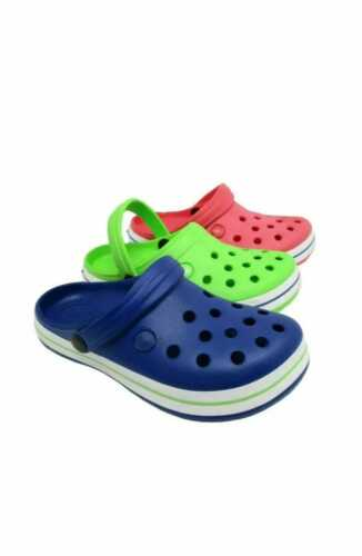 Kids Children Boys Girls Summer Holiday Pool  Clogs Beach Sandals Size