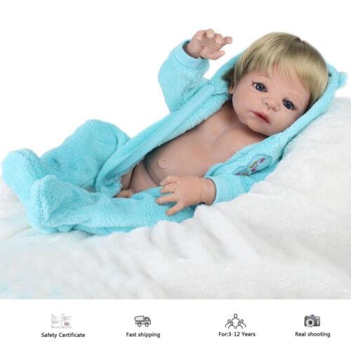 """22/"""" Full body Soft Vinyl Silicone Reborn Baby Dolls Realistic Newborn Boy Doll"""