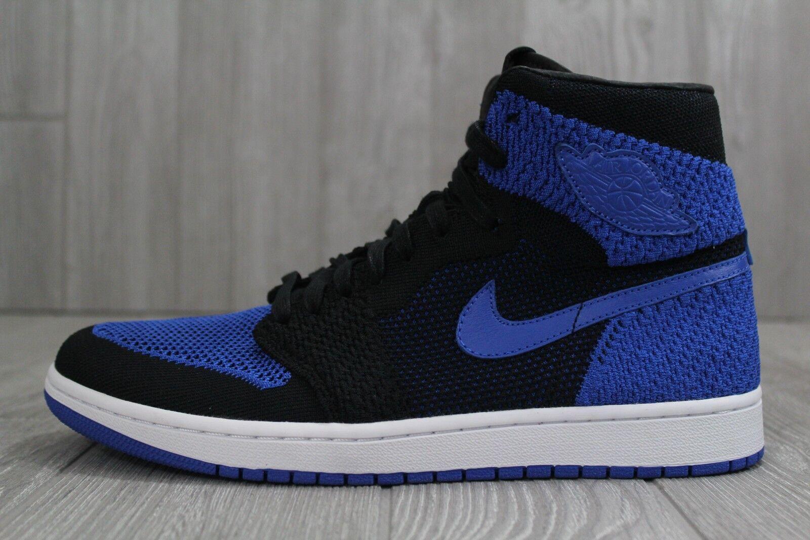 32 Nike Air Jordan 1 High Flyknit Black/Blue Shoes Sizes 10-11.5 919704 006
