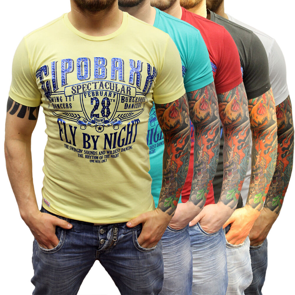 CIPO & BAXX fête club strass fête BAXX Fitness t-shirt 135244 taille s m l xl xxl tout neuf 9693a1