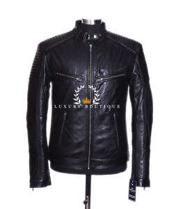 Veste Pour Retro Scorpio Vrai Mouton Biker Débardeur De Cuir Hommes Noir Style O0q1wR6