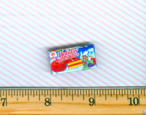 DOLLHOUSE Miniatures SIZE Christmas Holiday Snack Cakes Box