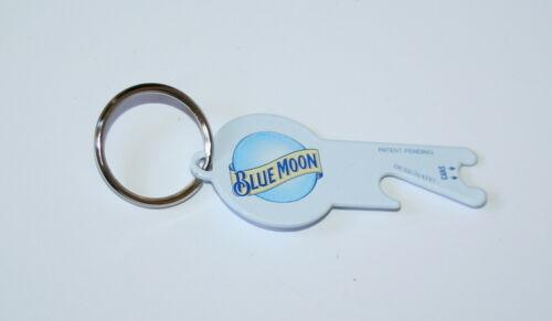 Blue Moon Beer Advertising Promo logo Metal Bottle /& Can Opener Key Chain New