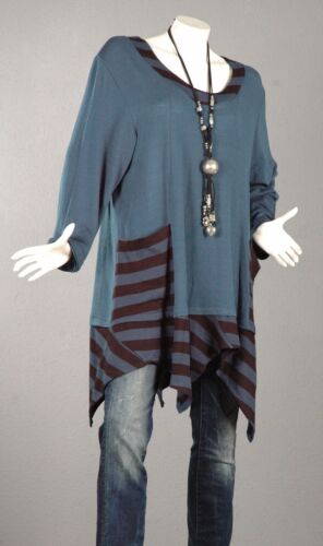 lunghe trapezio maniche 112 a Maglia Lagenlook Pullover Trend Pullover Top 2 52 Tunica a xqxwHTYS