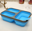 New Foldable Microwave Oven Bento Silicone Lunch Box Bento Picnic Food Container