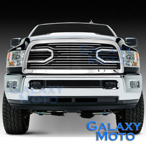 10-17-Dodge-RAM-2500-3500-HD-Front-Hood-Big-Horn-Chrome-Replacement-Grille-Shell