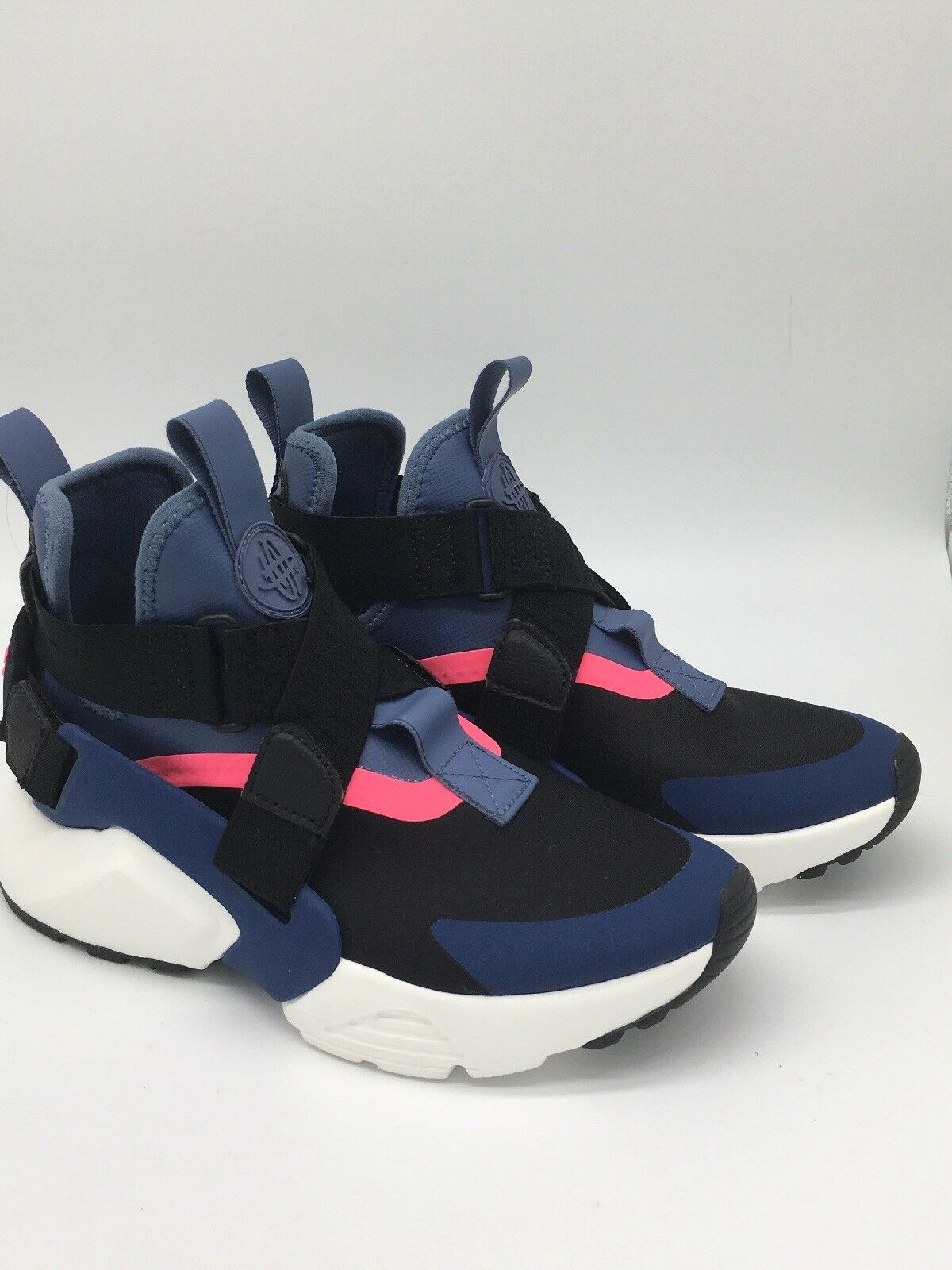 Nike Air Huarache City Strap Navy Black Pink Women Running Shoes AH6787-002 sz 5