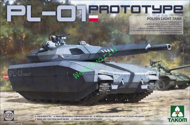 Takom 2127 1/35 Polish PL-01 Light Tank PROTOTYPE