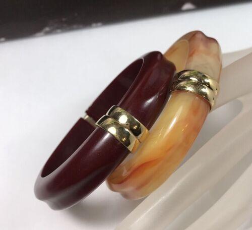 Avon Lucite and Gold Clamper Cuff Bracelet