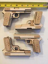 Wood Trick Gun Pistol Set Model Mechanical Wooden 3D Puzzle Self Assembly Kit
