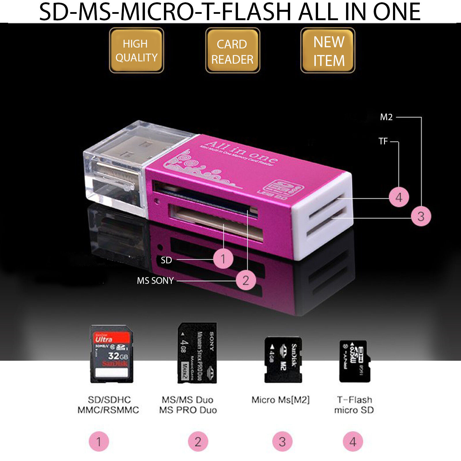 SD TF MMC CARD READER