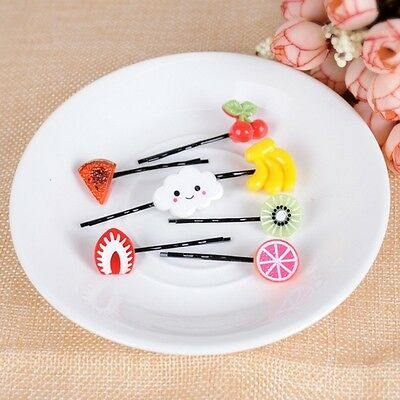 Art Design 10Pcs Fruit Kids Girl Hairpin Barrette Hair Clips Accessories